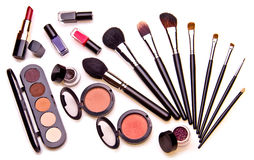 Set of essential professional make-up tools Stock Photo