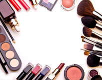 Set of essential professional make-up tools Royalty Free Stock Photos