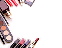 Set of essential professional make-up tools Stock Photos