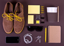 Set of essentials of modern people. Royalty Free Stock Photo