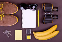 Set of essentials of modern people. Stock Photo