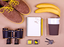Set of essentials of modern people. Stock Image