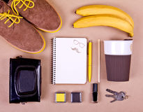 Set of essentials of modern people. Royalty Free Stock Photography