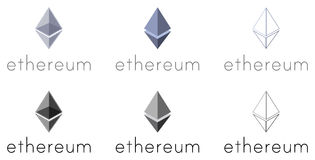 Set of Ethereum logotypes Stock Photography