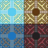 Set of Ethnic Baltic ornament pattern in different colors. Vector illustration Royalty Free Stock Photos