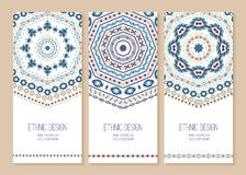 Set of ethnic banners. Royalty Free Stock Images