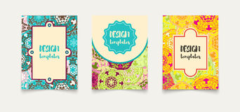 Set ethnic cards, invitations, flyers, banners a4. Royalty Free Stock Images