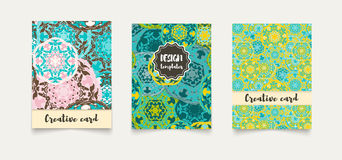 Set ethnic cards, invitations, flyers, banners a4. Stock Images