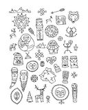 Set of ethnic design elements. Vector illustration Royalty Free Stock Images