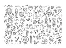 Set of ethnic design elements. Vector illustration Stock Photo