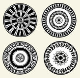Set of ethnic doodle dishes Royalty Free Stock Photography