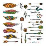Set of ethnic elements. Modern romantic boho style Stock Image