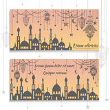 Set ethnic greeting cards, invitations, with the stock illustration