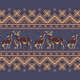 Set of Ethnic holiday ornament pattern in brown colors. Vector illustration. From collection of Balto-Slavic ornaments Stock Photos