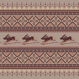 Set of Ethnic holiday ornament pattern in brown colors. Vector illustration. From collection of Balto-Slavic ornaments Royalty Free Stock Photos