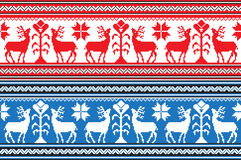 Set of Ethnic holiday ornament pattern in different colors. Vector illustration Royalty Free Stock Photo