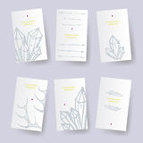 Set of ethnic identify cards. Vector  tags Royalty Free Stock Images