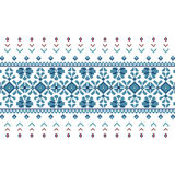 Set of Ethnic ornament pattern in blue colors. Vector illustration. From collection of Balto-Slavic ornaments Vector Illustration