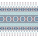 Set of Ethnic ornament pattern in blue colors. Vector illustration. From collection of Balto-Slavic ornaments Stock Illustration