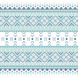 Set of Ethnic ornament pattern in blue colors. Vector illustration. From collection of Balto-Slavic ornaments Stock Image