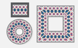 Set of Ethnic ornament pattern brushes Royalty Free Stock Images