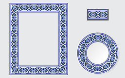 Set of Ethnic ornament pattern brushes Royalty Free Stock Image