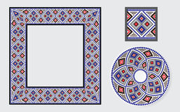 Set of Ethnic ornament pattern brushes Royalty Free Stock Photos