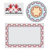 Set of Ethnic ornament pattern brushes. Vector illustration Royalty Free Stock Photo