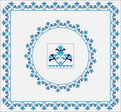 Set of Ethnic ornament pattern brushes. Vector illustration Stock Photography