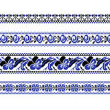 Set of Ethnic ornament pattern with  cross stitch  flower. Vector illustration. From collection of Balto-Slavic ornaments Royalty Free Stock Photography