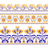 Set of Ethnic ornament pattern with  cross stitch  flower. Vector illustration. From collection of Balto-Slavic ornaments Royalty Free Stock Image