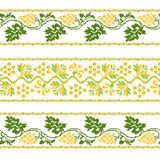 Set of Ethnic ornament pattern with cross stitch flower. Vector illustration. From collection of Balto-Slavic ornaments Royalty Free Illustration