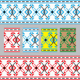 Set of Ethnic ornament pattern in different colors. Vector illustration Royalty Free Stock Photography