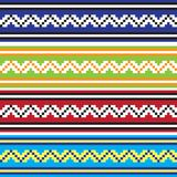 Set of Ethnic ornament pattern in different colors. Vector illustration Stock Photography