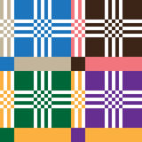Set of Ethnic ornament pattern in different colors. Vector illustration Stock Images