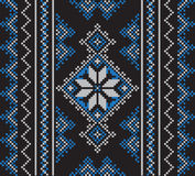 Set of Ethnic ornament pattern in different colors. Vector illustration. From collection of Balto-Slavic ornaments Stock Illustration