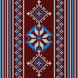 Set of Ethnic ornament pattern in different colors. Vector illustration Royalty Free Stock Photo