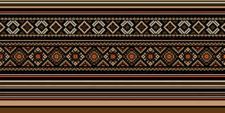 Set of Ethnic ornament pattern in different colors. Vector illustration Royalty Free Stock Images