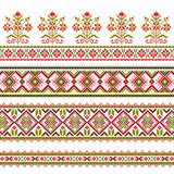 Set of Ethnic ornament pattern in different colors Royalty Free Stock Photos
