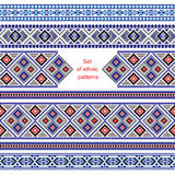 Set of Ethnic ornament pattern in different colors. Vector illustration. From collection of Balto-Slavic ornaments Stock Image