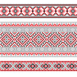 Set of Ethnic ornament pattern in different colors. Vector illustration. From collection of Balto-Slavic ornaments Royalty Free Stock Photo