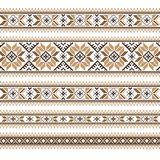 Set of Ethnic ornament pattern in different colors. Vector illustration. From collection of Balto-Slavic ornaments Stock Photography