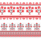 Set of Ethnic ornament pattern in different colors. Vector illustration. From collection of Balto-Slavic ornaments Stock Photo