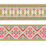 Set of Ethnic ornament pattern in different colors. Vector illustration. From collection of Balto-Slavic ornaments Royalty Free Stock Images