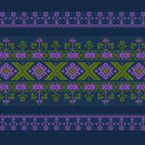 Set of Ethnic ornament pattern in different colors. Vector illustration. From collection of Balto-Slavic ornaments Vector Illustration