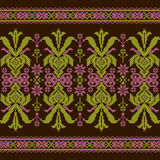 Set of Ethnic ornament pattern in different colors. Vector illustration. From collection of Balto-Slavic ornaments Stock Images