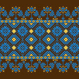 Set of Ethnic ornament pattern in different colors. Vector illustration. From collection of Balto-Slavic ornaments Stock Photos