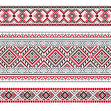 Set of Ethnic ornament pattern in polygonal style Royalty Free Stock Images