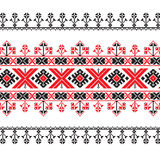 Set of Ethnic ornament pattern in red and black colors Stock Photography