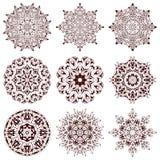 Set of ethnic ornamental floral pattern. Hand drawn mandalas. vector illustration